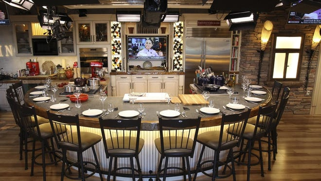 """The New England Emmy Award-winning """"The Cooking Show"""" hosted by chef Liz Bramwell was produced out of a state-of-the-art television broadcast studio at the Kingston Collection."""