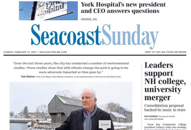 Delivery of Seacoast Sunday's Feb. 21, 2021 print edition is delayed.
