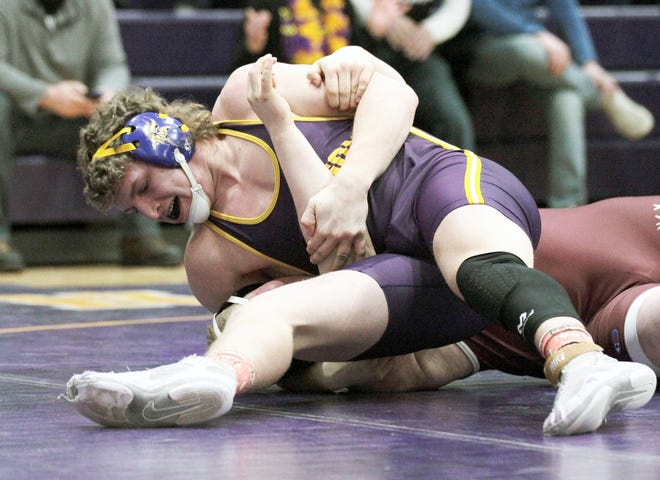 Bronson's Justin Blankenship won all three of his matches by pinfall on Saturday afternoon.