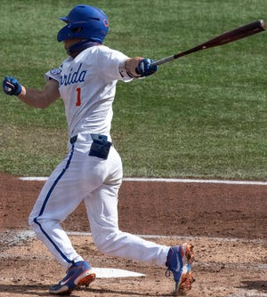 Sophomore outfielder Jacob Young was 4-for-5 with two RBI and a double Sunday to lead the Gators over visiting Samford.