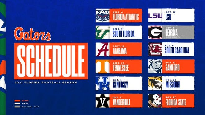 Florida's 2021 football schedule