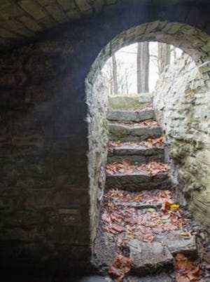The entrance to a tunnel used as part of the Underground Railroad to hide and transport fugitive slaves in Glendale.