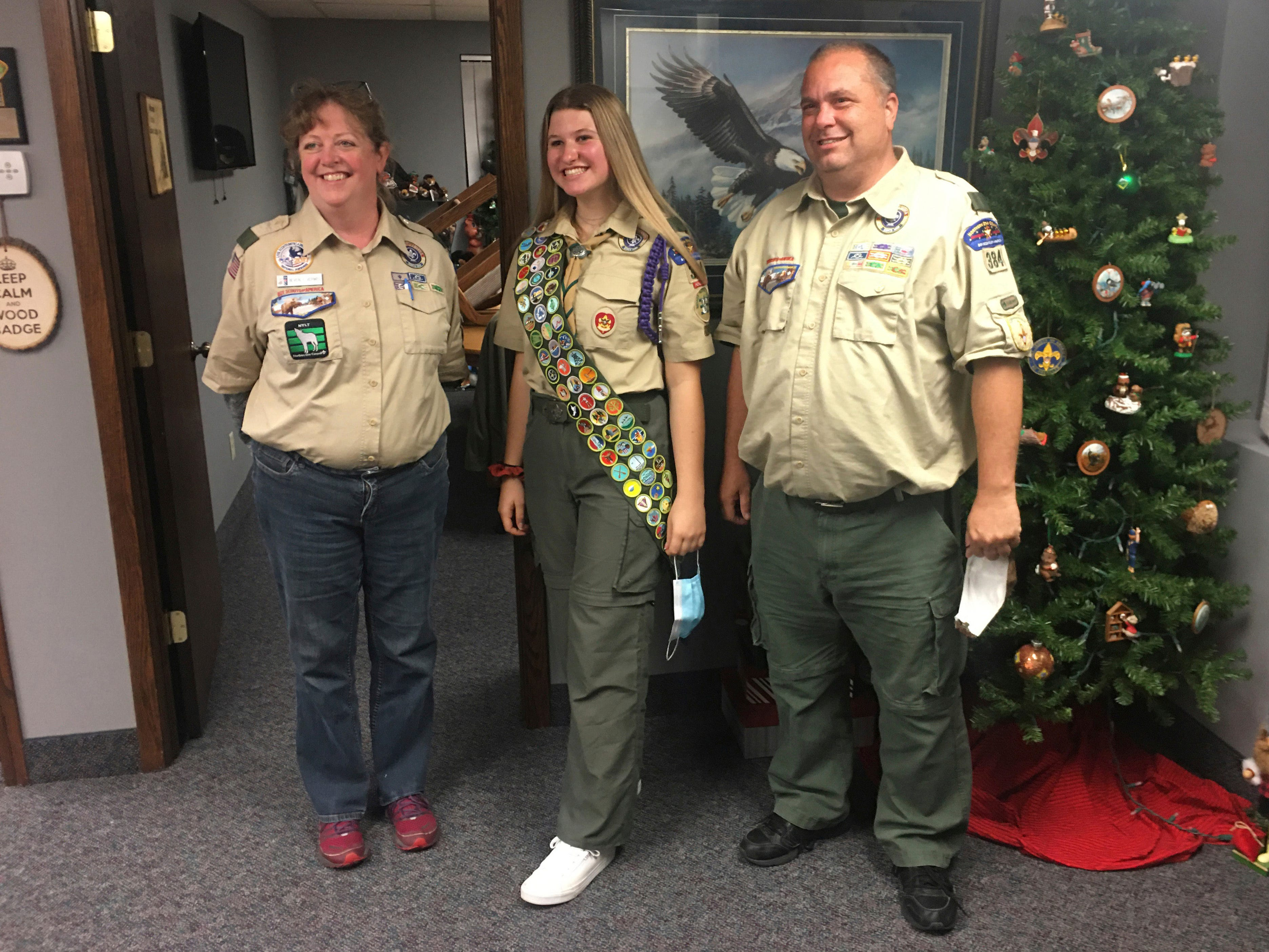 Boy Scouts celebrate the first group of female Eagle Scouts 2