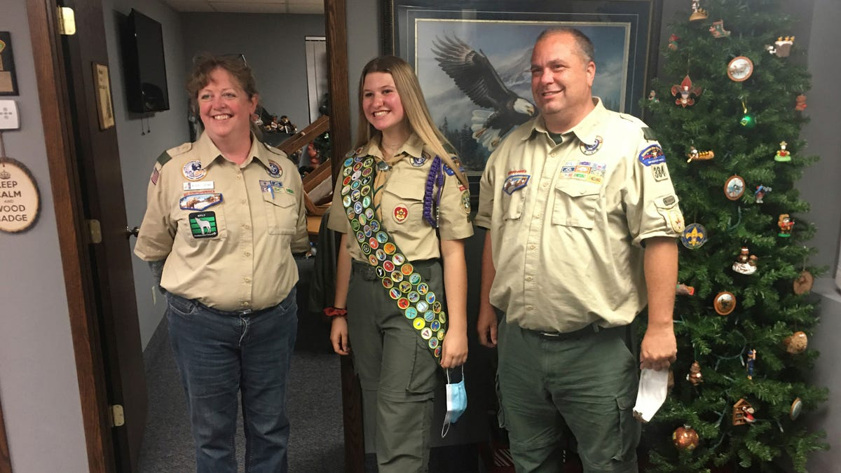 Boy Scouts celebrate the first group of female Eagle Scouts 3