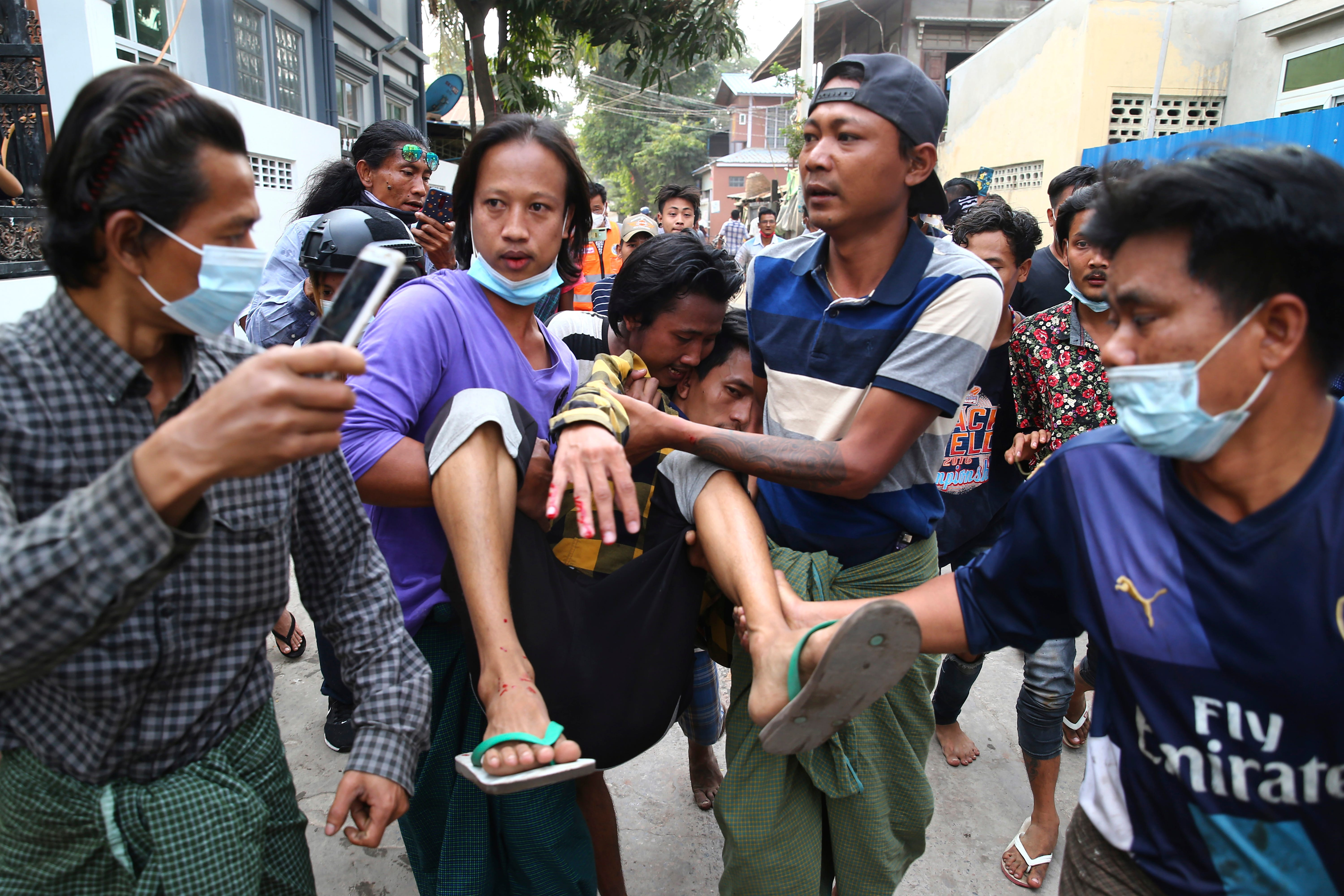 2 Myanmar protesters killed by police fire, several injured 2