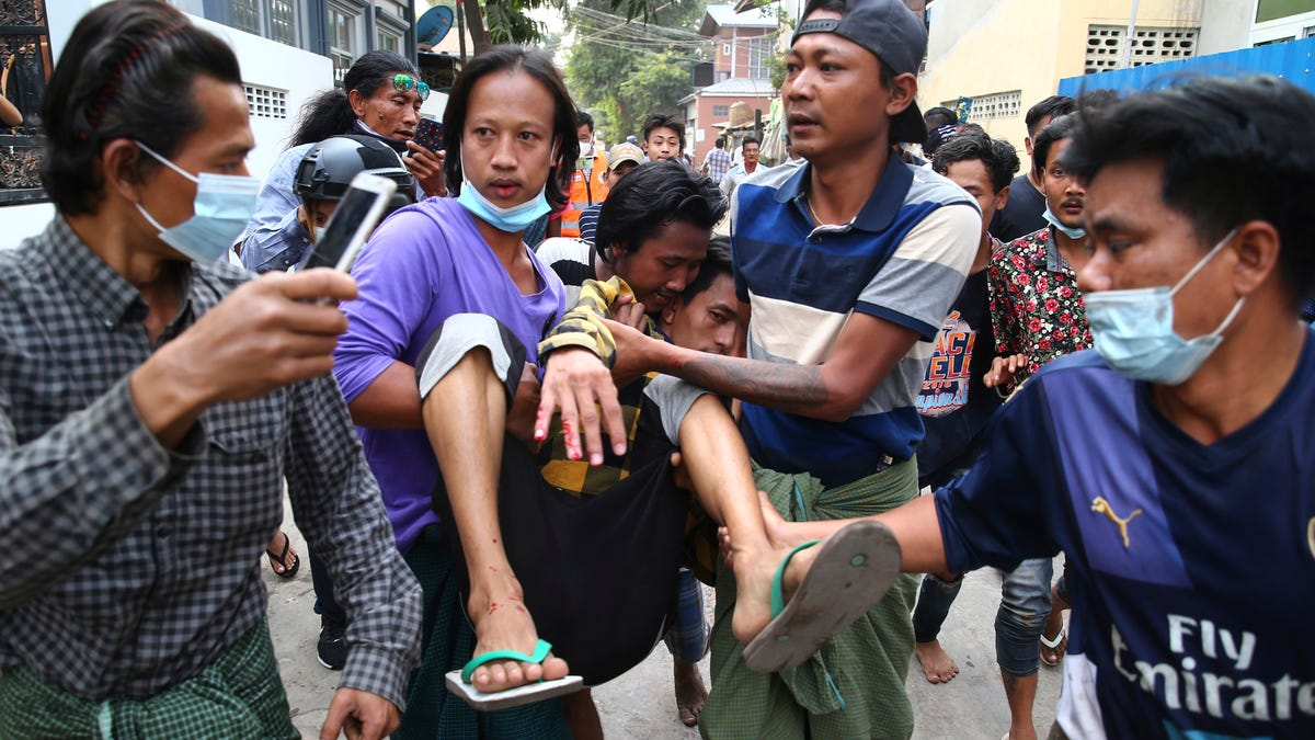 2 Myanmar protesters killed by police fire, several injured 3