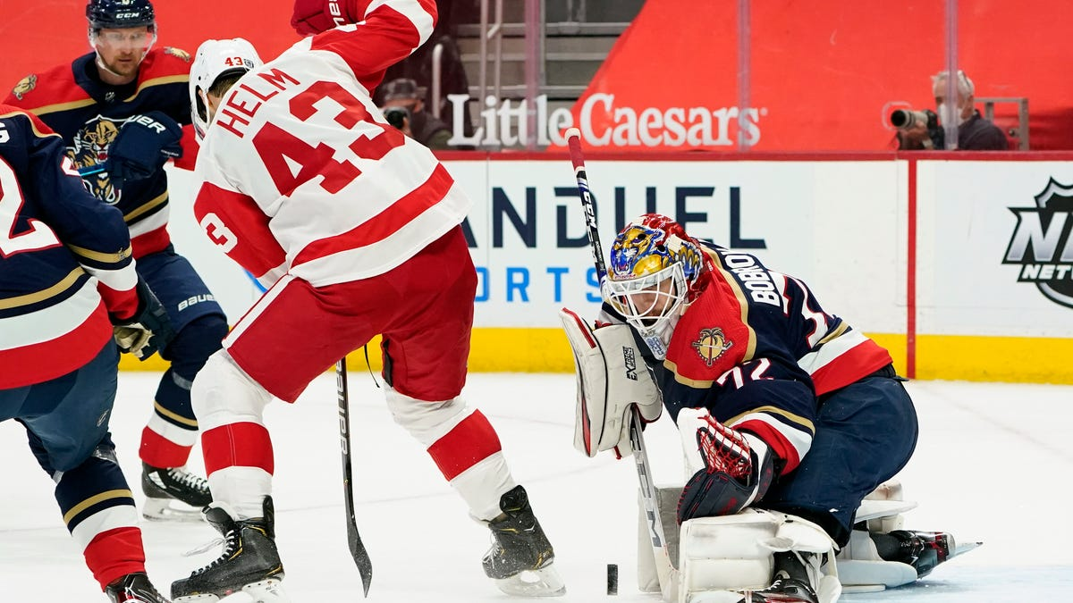 Red Wings hold on to defeat Panthers, 2-1 1
