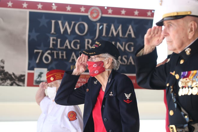 World War II veterans were honored at a Feb. 21 ceremony in Cape Coral commemorating the 76th anniversary of the World War II flag-raising on Iwo Jima.