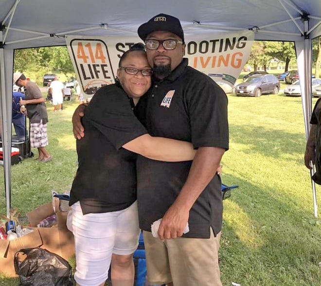 Hamid Abd-Al-Jabbar, pictured with his wife, Desilynn Smith, at a 414Life event.