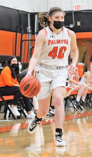 Palmyra's Katelyn Becker hit 5 3-pointers in Saturday's win vs. Hershey.