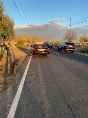 Tulare County deputies investigate a murder suicide on Saturday, February 20, 2021.