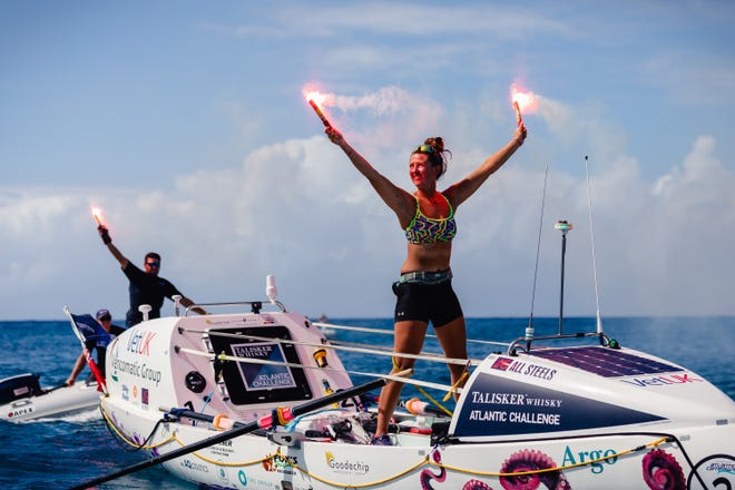 Jasmine Harrison, a 21-year-old from North Yorkshire, set a world record for the youngest female solo rower to row any ocean.