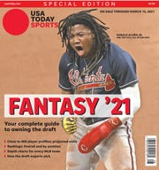 Braves outfielder Ronald Acuña Jr. is the No. 1 player for 2021 in our preseason fantasy baseball rankings and is one of five regional cover subjects for USA TODAY Sports' annual fantasy baseball preview.