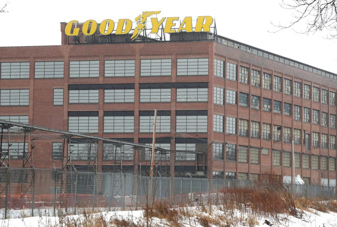 Goodyear headquarters in Akron.