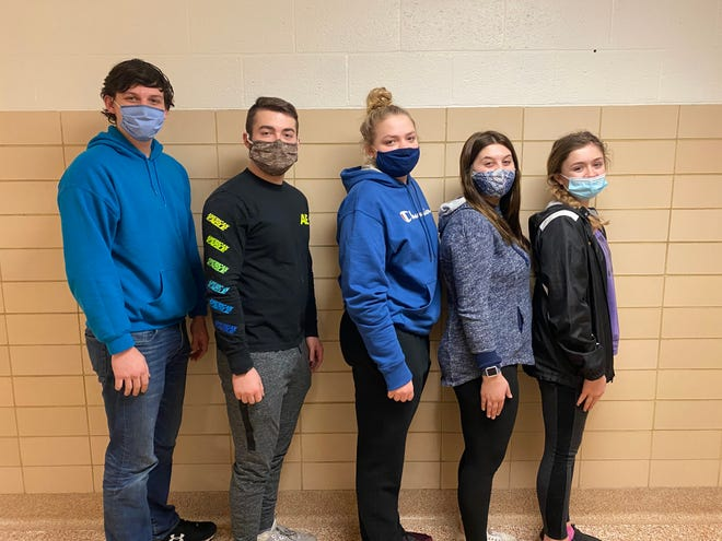 The Black River grain merchandising team members are, from left, Joe Mennell, Shane Zacharyasz, Molly Cordonnier, Cassidy Mrakuzic and Chloee Howard. Not pictured is team member Hope Diaz.