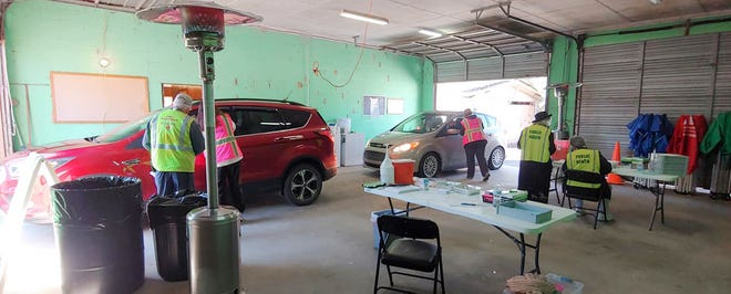 Glascock County Health Department and volunteers provide vaccinations in former fire station in Gibson.