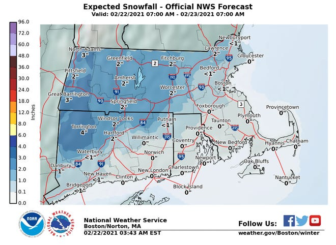 Cape Cod might see up to half an inch of rain on Monday night.