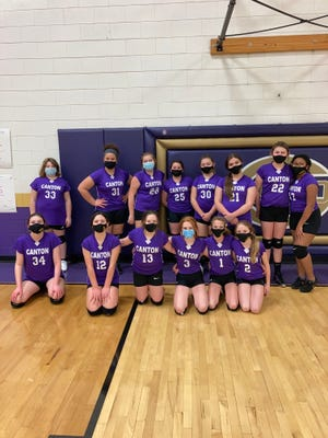 Pictured are members of the IMS seventh grade girls volleyball team.