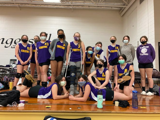 Pictured are members of the IMS eighth grade girls' volleyball team.