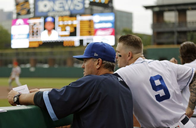Former hitting coach Andy Tracy, left, will become the Clippers' 22nd manager when the 2021 season begins in April.