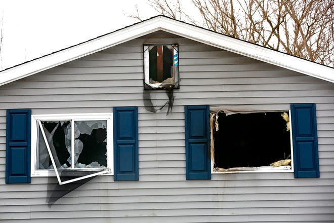 The scene on Monday of a fatal house fire on Glenshaw Avenue that claimed the lives of 4-year-old twins. The fire on the Northeast Side of Columbus broke out early Saturday morning.