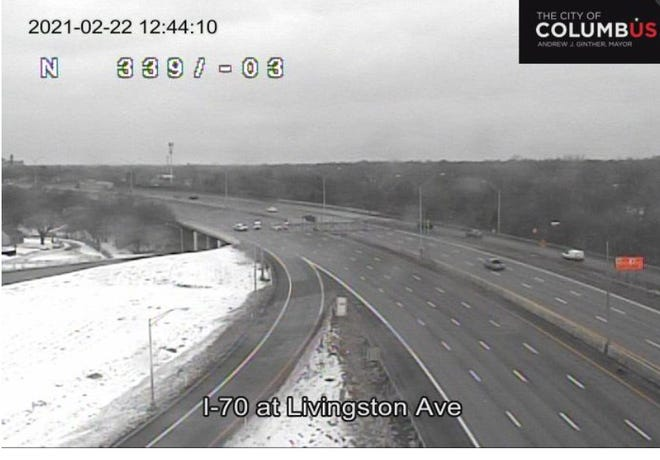 A shooting was reported on Interstate 70 eastbound near Alum Creek Drive around noon Monday.