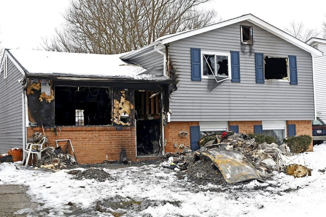The scene of a fatal house fire on Glenshaw Avenue on Monday that took the life of a 4-year-old boy. A neighbor has started an effort to raise money to help the family.