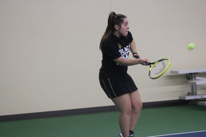 Gabriela Pinto and the Minnesota Crookston women's tennis team took on Southwest Minnesota State and Minnesota State at home Sunday.
