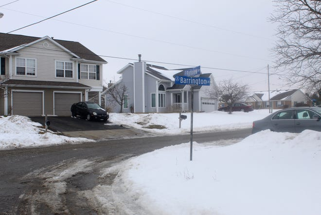 The intersection of Barrington Lane and Parkview Avenue in Adrian is pictured Monday. Police responded to a report of a man with a rifle in the area on Friday evening. Officers did not find a weapon.