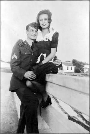 Arturo and Olivia Mennillo on the old Destin bridge in1945.