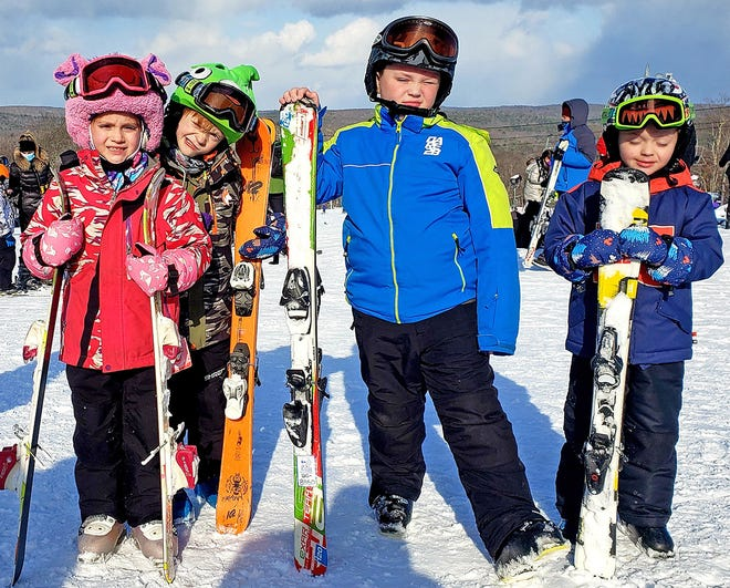 Local kids Ashlyn and Alex Engvaldsen from Beach Lake, and Wesley and Henry Deaton have been enjoying a wild winter. Of note Ashlyn rode all 130 chairs on the Thundercloud Lift at Ski-Big Bear that took 19 trips to the mountain and 167 runs down the slopes!