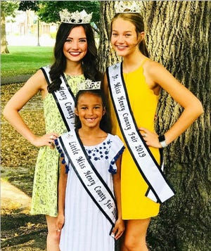 2019 Miss Henry County Fair, Sierra Brown. 2019 Jr Miss Henry County Fair, Londen Fulks, 2019 Little Miss Henry County Fair, Jaela Minnaert