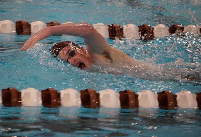 Ethan Elswick is the only member of United High School's swim team.