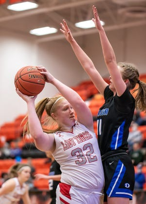 Glen Rose senior Jeana Douglas scored a team-high 11 points in the Lady Tigers 35-34 win over Decatur in the Area Round of the Class 4A playoffs Saturday at Aledo High School.