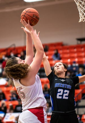Glen Rose freshman Aimee Flippen came off the bench to score seven points in the Lady Tigers' win over Decatur on Saturday.
