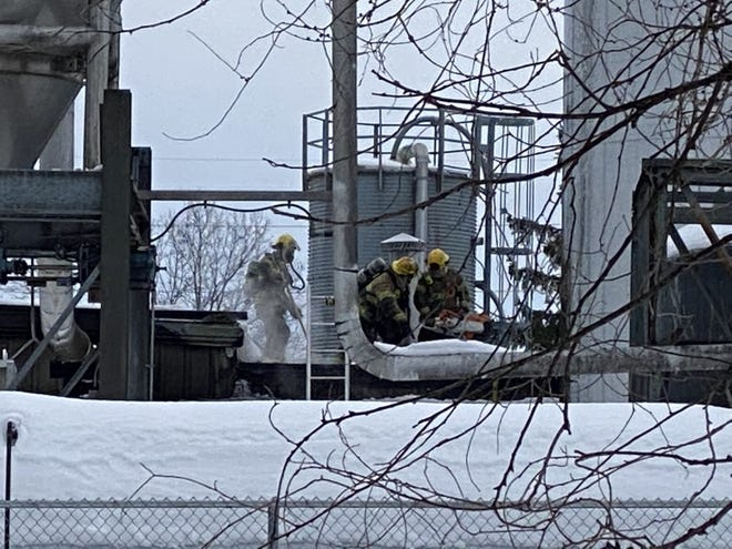 Holland Township Fire Department crews respond to a fire at the New Holland Brewing Company production campus in Holland Township, Mich. on Sunday, Feb. 21, 2021. (Contributed)