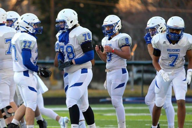 Sophomore Casey Beiler (9) will start at quarterback for Polk County this season.