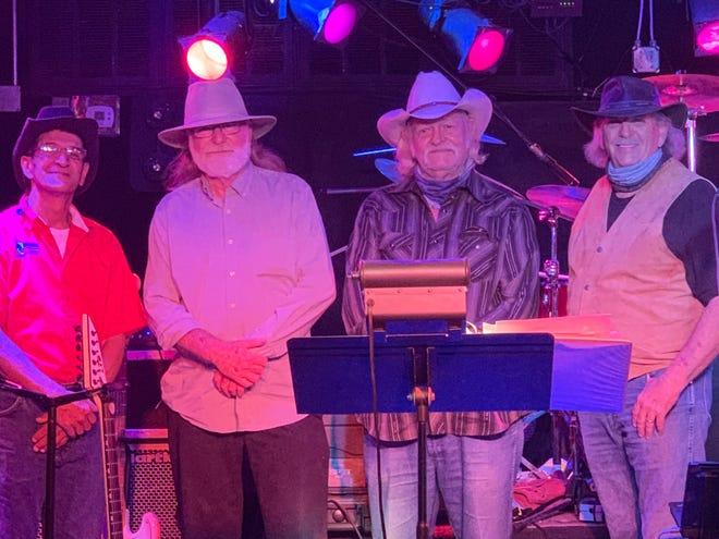 The current Open Range Band members, left to right:   Jose Sanchez , Gary Harrison, Glenn Johnson, Reg Moree