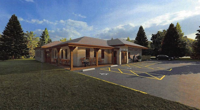 This artist's rendering shows what the future Keyser Senior Center would look like.