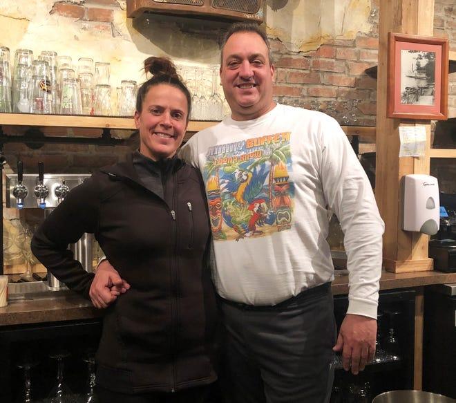 "Kimberly Vakiener and Alexander ""Xan"" Bacon welcome the public Thursday to their KiX on the MAIN restaurant on Main Street, Canandaigua."