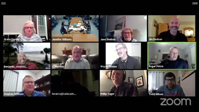 Members of Planning Commission and staff meet for a virtual meeting