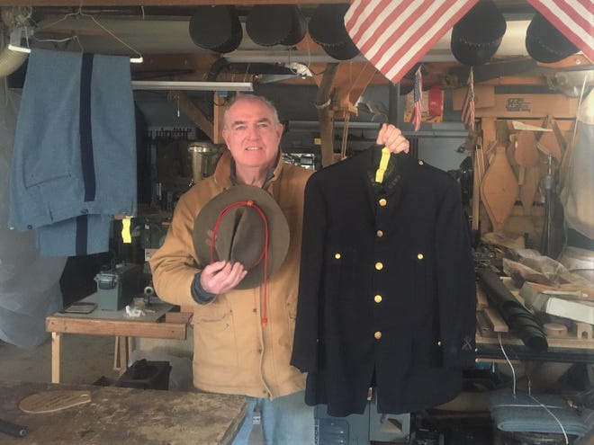 Kevin McKinney, pictured here, reconnected with his York High School classmate Karen Blaisdell, who held onto a military uniform that belonged to her grandfather Cato Philbrick, a York veteran who served in the U.S. Army in the Spanish American War.