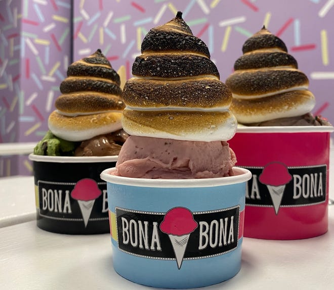 Funky offerings at Bona Bona, an ice cream shop coming to the Delray Beach Market this spring. MENIN