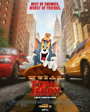 """The Story Theater in Story City is showing """"Tom and Jerry"""" on Friday, Saturday and Sunday."""