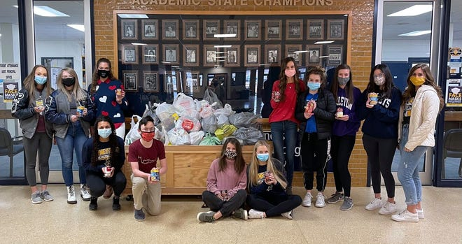 Stephenville High School hosted a food drive from Feb. 8-12. Items donated included peanut butter, canned vegetables, granola bars and cereal, among others. Students who donated to the drive received extra credit in the math and/or English classes.