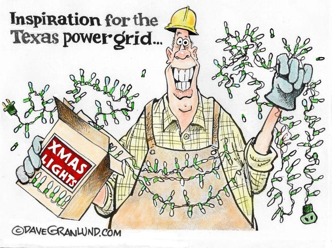 Granlund cartoon: Texas power grid