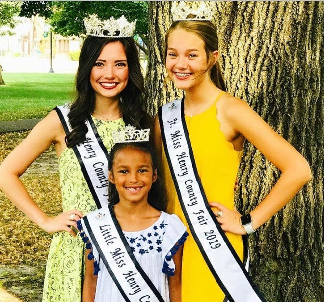 """Entry forms for the 2021 Henry County Fair Pageants will be available starting on Monday, March 1. Forms will be available on the website www.henrycountyfairil.com and on the Facebook page """"Henry County Fair Queen Pageant"""". Entry forms are open to females residing in or attending school in Henry County. Age divisions are- Little Miss 5-7, Jr Miss 11-14, Miss Henry County Fair 16-21. There are limited spots open in the Jr Miss and Little Miss categories. All entry forms require a $40 sponsor fee that can be paid by a business, organization or individual. For questions please contact pageant director Kelli Patton by phone 309-944-7743 or email henrycopageant@gmail.com. Pictured are 2019 Miss Henry County Fair Sierra Brown, 2019 Jr Miss Henry County FairLonden Fulks and 2019 Little Miss Henry County FairJaela Minnaert."""