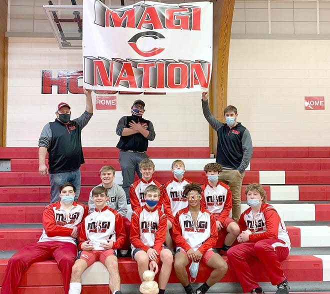 The Colon wrestling team won the SCAA league title on Saturday.