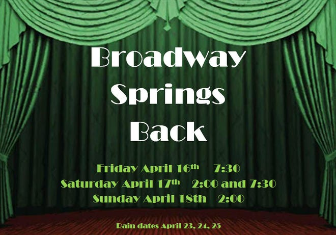 "Possum Point Players is accepting video auditions of its spring music revue ""Broadway Springs Back"" through Feb. 26."