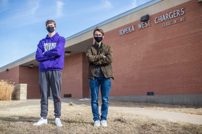 Topeka West High School sophomore Miles Cusick and freshman Charles White will use a combined $2,600 in grant funding from the Topeka Youth Commission to add a library and garden space, as well as paint murals on concrete dividers in the school's west parking lot.